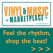 vinyl music marketplace logo